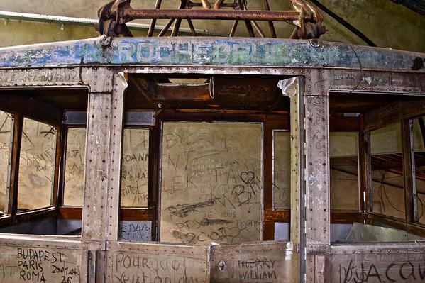 Ancienne Rochebrune télécabine, suspendu