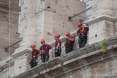 Firefighter on the Colosseum