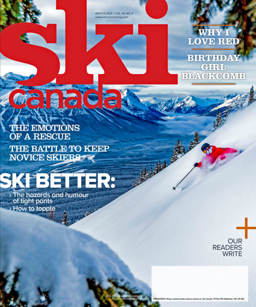 Ski Canada Magazine Cover Feb 2021