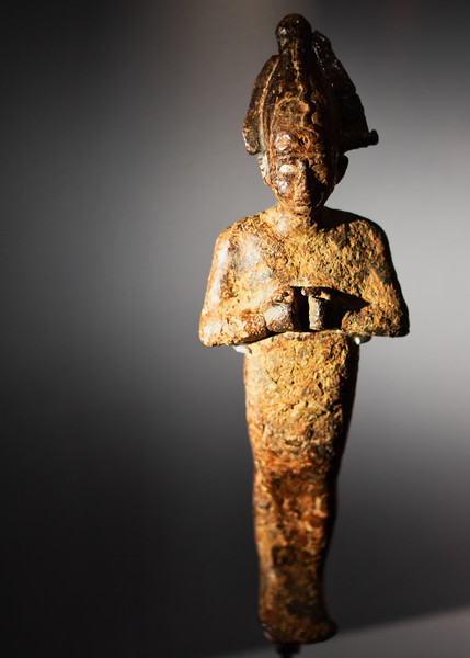 Statuette of Osiris, excavated from the sea