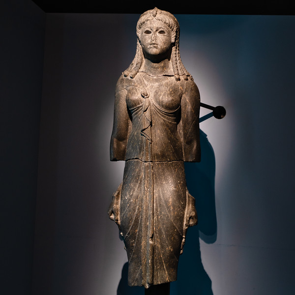Excavated statue of Isis figure