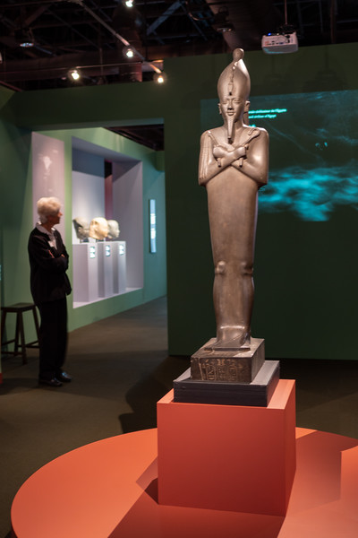 Osiris statue on display at the Ronald Reagan Presidential Library