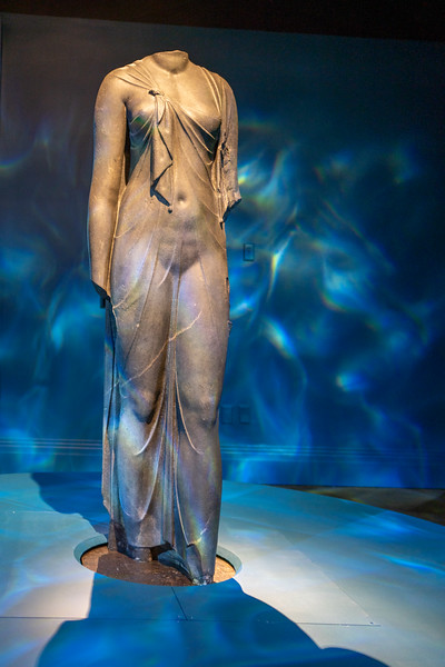 Black granite statue of Queen Arsinoe II as Aphrodite/Isis