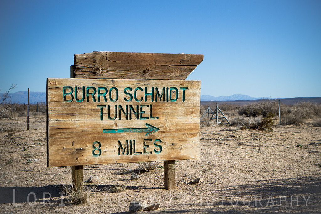 Burro Schmidt Tunnel sign