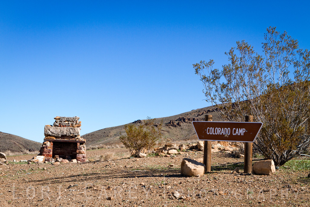 Remains of the Colorado Camp in the El Paso Mountains, Mojave Desert, California