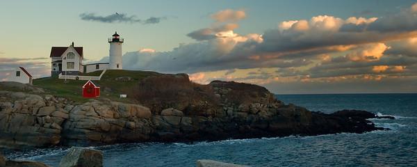 Maine - Casco Bay and Nubble Light