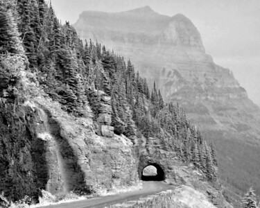 Going to the Sun Road  BW