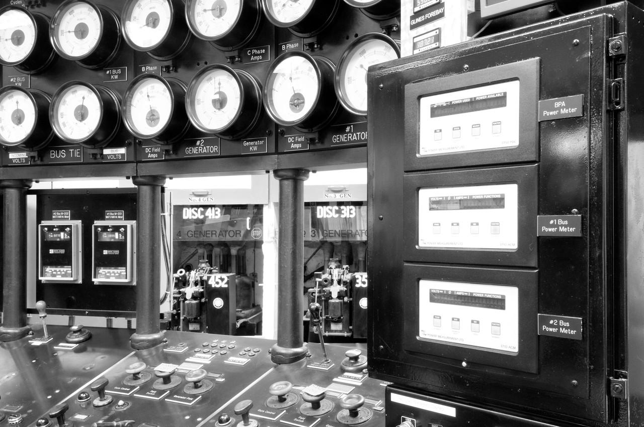 Control Room, Elwha Dam, Washington.