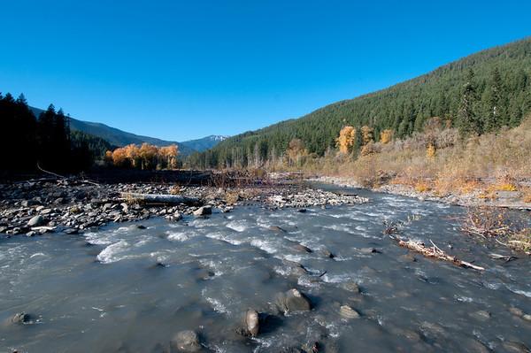 Elwha River, Olympic National Park, Washington.