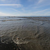 Sediment at mouth of Elwha River, Strait of Juan de Fuca.