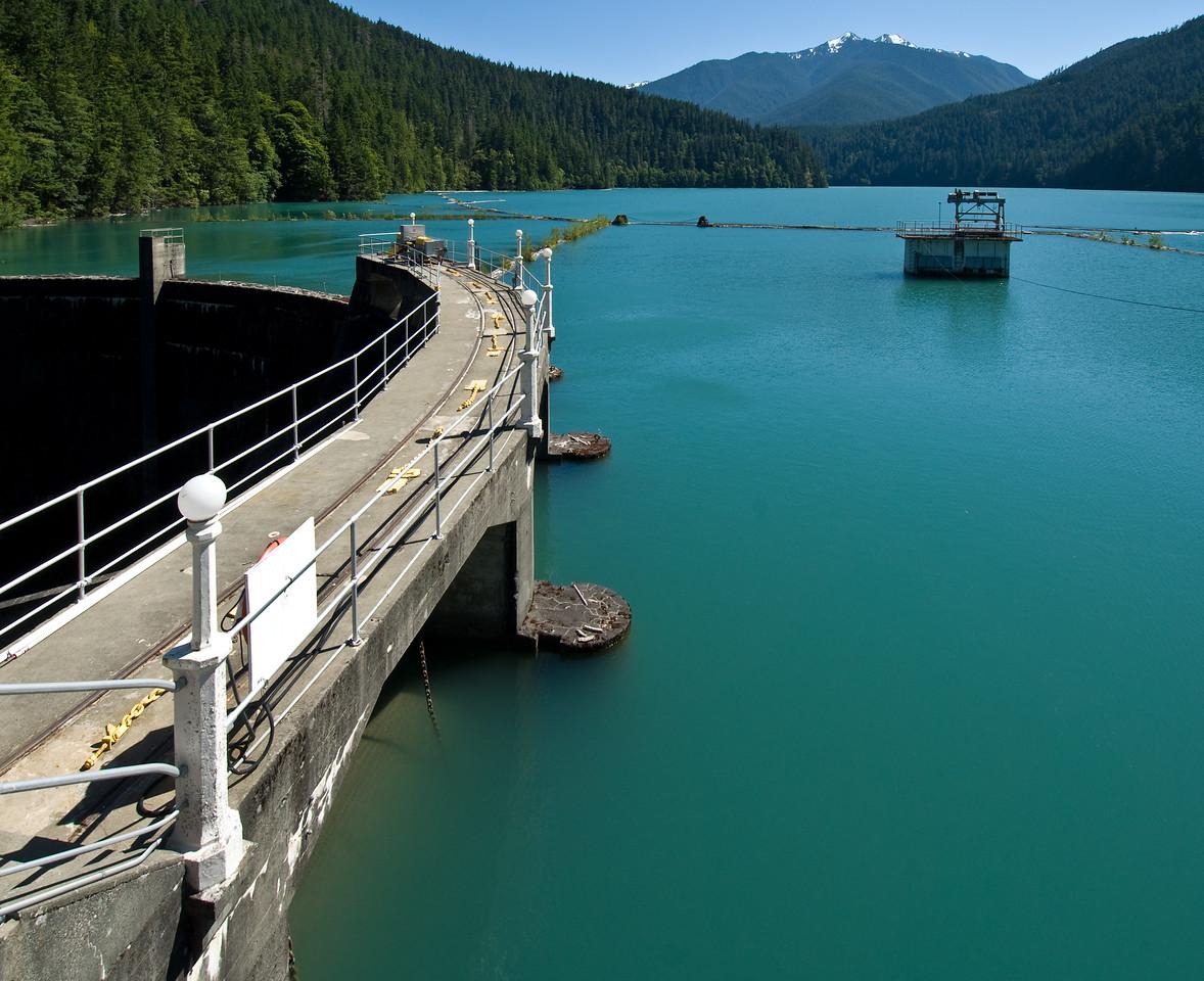 Glines Canyon Dam and Lake Mills, Olympic National Park, Washington