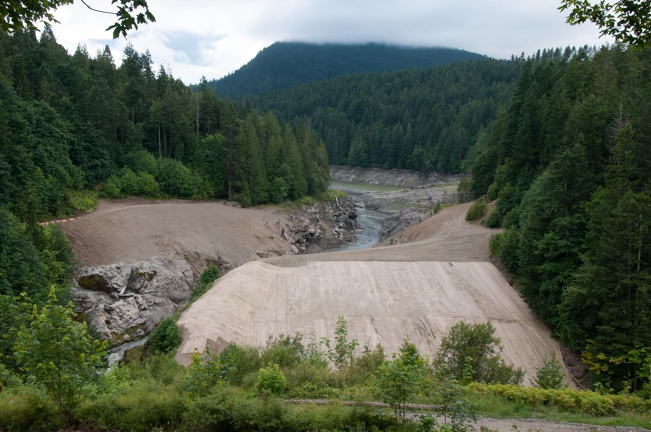 Former Elwha Dam site, July 20, 2012.