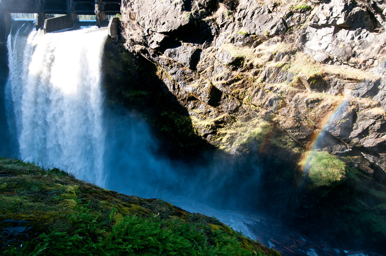 Spillway, Glines Canyon Dam, Elwha River, Olympic National Park, Washington.