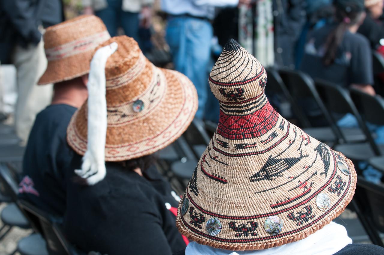 Traditional Lower Elwha Klallam cedar hats.