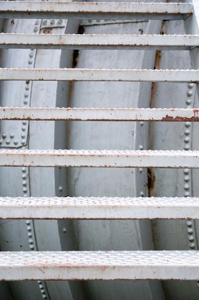 Stairs and Penstock, Elwha Dam, Washington.