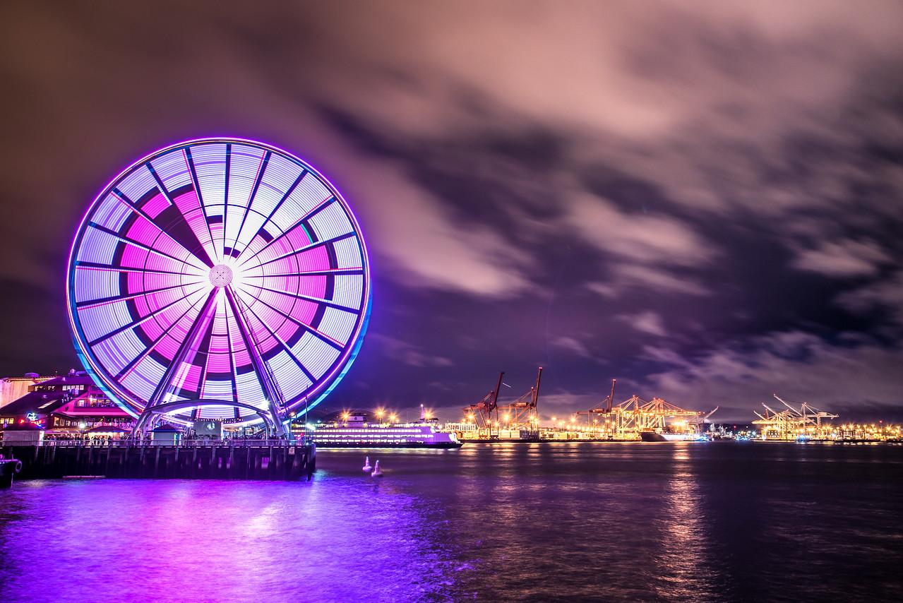 Seattle Wheel Celebrating Valentines Day