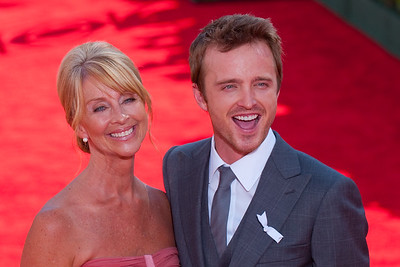 Aaron Paul on the red carpet at the Emmys