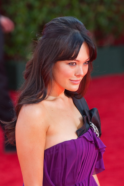 Lindsay Price on the red carpet at the Emmys