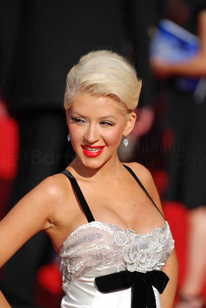 Christina Aguilera- Tony Bennett: An American Classic - on the red carpet at the Emmys