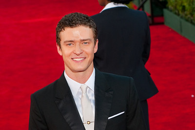 Justin Timberlake on the red carpet at the Emmys