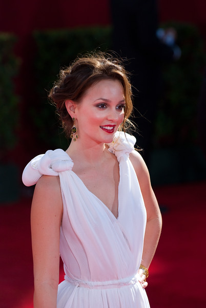 leighton meester on the red carpet at the Emmys
