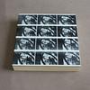 Baby Owls Filmstrip #5002, Encaustic Mixed Media on Panel, 8x8