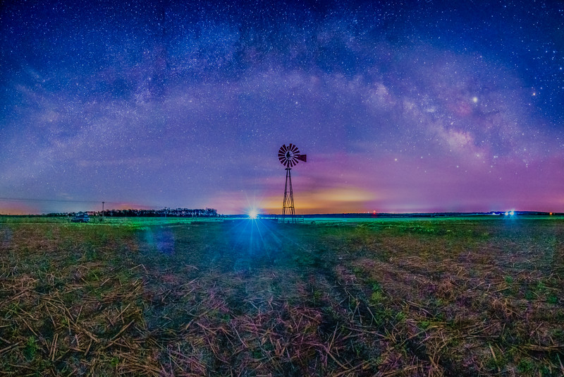 Farm Windmill and The Universe