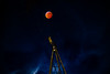 Wolf Moon Eclipse over Windmill