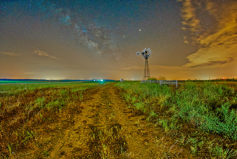 Milky Way over Country Road