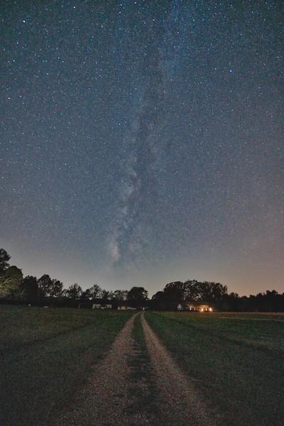 October Milky Way over Farm