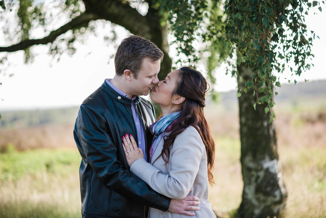Staffordshire Wedding Photographer, Engagement Photography at Cannock Chase