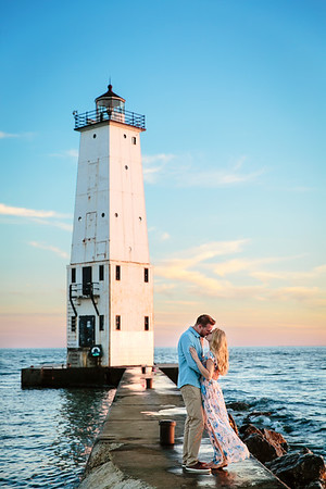 Engagement Photos at Frankfort Lighthouse | Rayan Anastor Photography | Frankfort Wedding Photographer