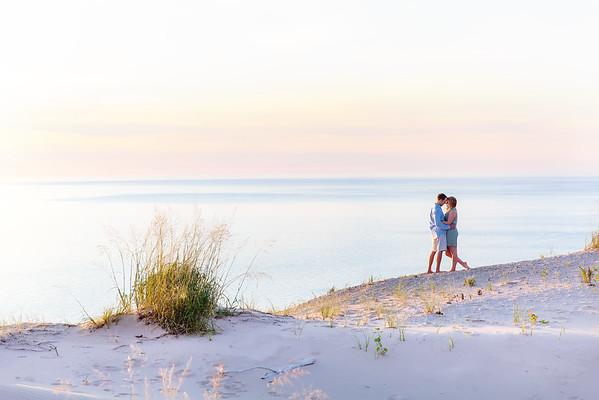 Sleeping Bear Dunes Engagement Photos | Rayan Anastor Photography | Lake Michigan Wedding Photographer