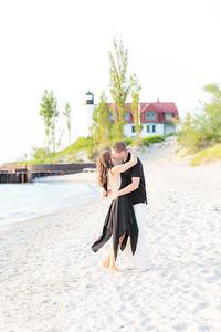 Point Betsie Engagement at Sunset   Rayan Anastor Photography   Point Betsie Wedding Photographer