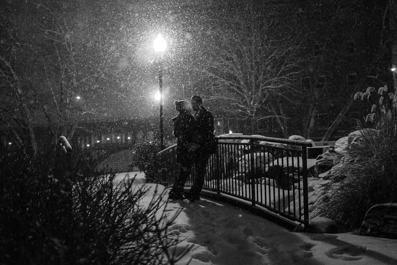 Snowy Engagement Photos