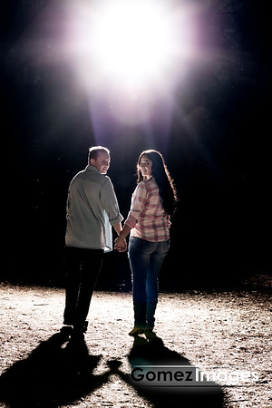 Matt and Andrea Engagement Session, Big Redwood State Park At Dusk