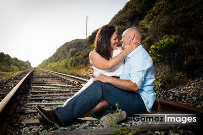 David and Emilia Engagement Session, Santa Cruz Train Tracks