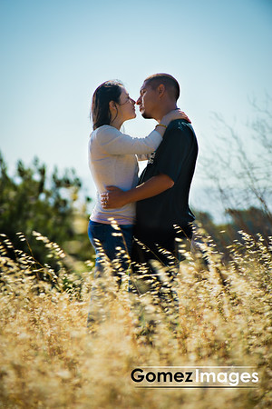 Francisco and Maria Engagement Session, Tall Meadow Grass