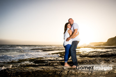 Sunset Beach Engagement session, Santa Cruz, California