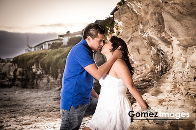 Romantic Engagement session in the beach, Santa cruz beach