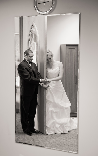 Just before the ceremony