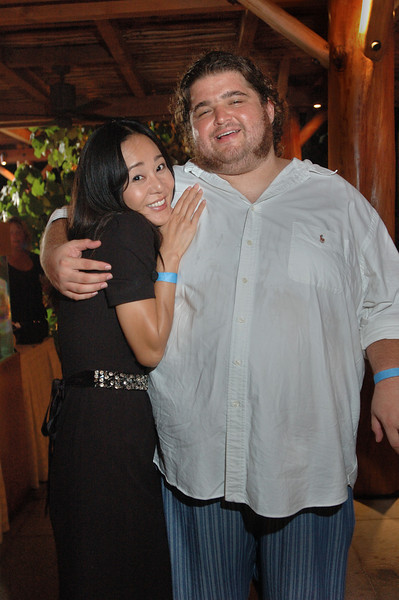 "Actress Yunjin Kim and Jorge Garcia of ABC's TV show ""Lost"" during the season two DVD release party at the Turtle Bay Resort in Kahuku, Hawaii August 15, 2006.  The season premiere of season three will be on October 4,2006 while the  DVD of season two will be released on September 5, 2006.  (AP Photo/Lucy Pemoni)"