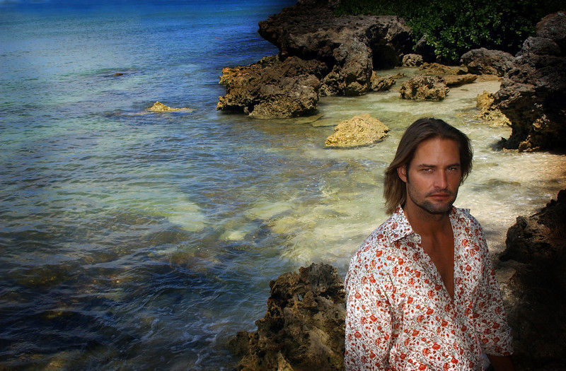 "Josh Holloway,  one of the stars of ABC's new hit series ""Lost""  on a remote beach on the North Shore of Oahu, near Kahuku, Hawaii, Wednesday, Aug. 17, 2005."