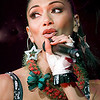 "The Pussy cat dolls lead by Hawaii-born singer Nicole Scherzinger, the popular all-girl band the hits the Blaisdell Arena  June 13,to promote its album ""Doll Domination."" LUCI PEMONI PHOTO"