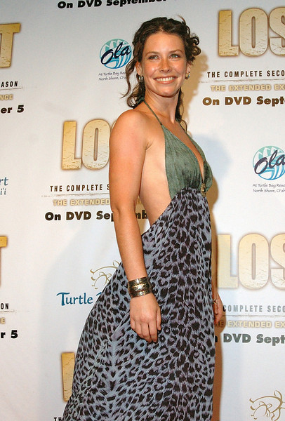 "Actress Evangeline Lilly of ABC's TV show ""Lost""  before the season two DVD release party at the Turtle Bay Resort in Kahuku, Hawaii August 15, 2006.  The premiere of season three will be on October 4, 2006 and the DVD of season two will be released on September 5, 2006.  (AP Photo/Lucy Pemoni)"