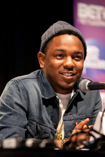 "Kendrick Lamar on the ""Taking the Throne: The Brand is the New King"" panel at SXSW Interactive 2012.<br /> 3/16/2012.<br /> <br /> ©Hutton Supancic/ WireImage"