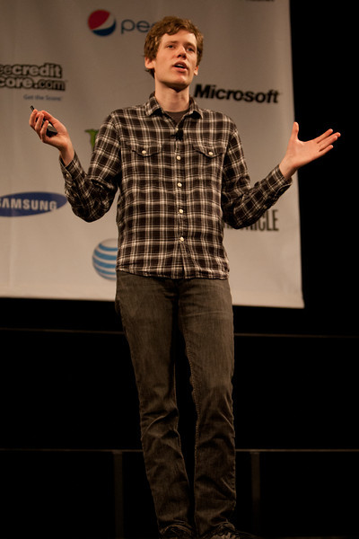 Christopher Poole gives the keynote for SXSW Interactive 2011. <br /> 3/13/2011.<br /> <br /> ©Hutton Supancic/ WireImage