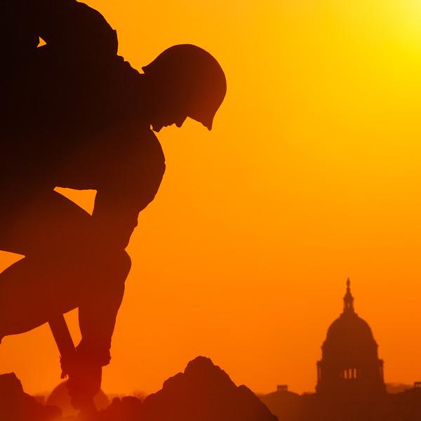 US Capitol, sunrise