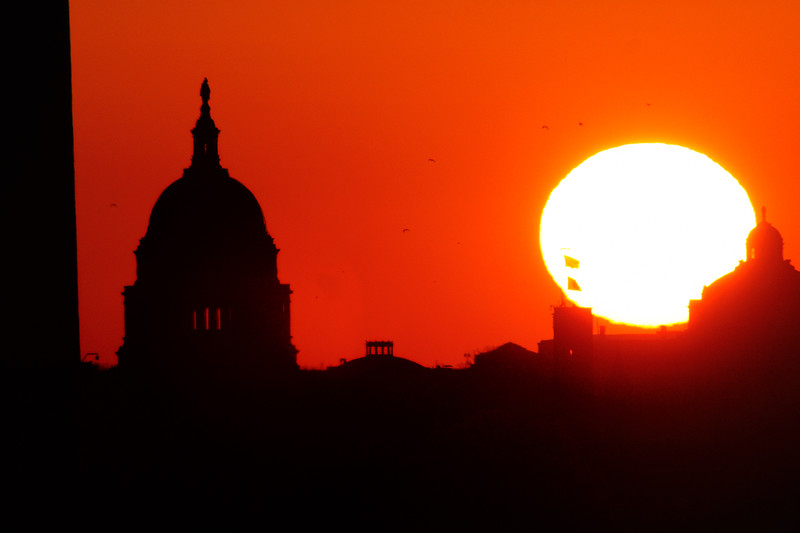 US Capitol, sunrise