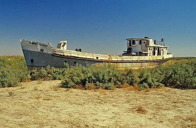 The dried up bottom of the Aral Sea, Uzbekistan